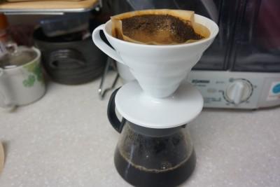 ダイソーコーヒーフィルター使用後2
