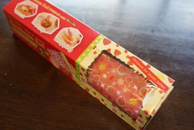ダイソーイチゴ柄キッチンアルミホイル使用前1