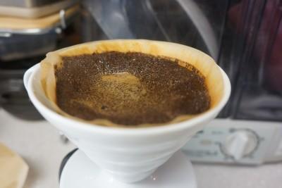 ダイソーコーヒーフィルター使用後1
