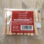 いろいろに使える!100円均一セリアの「木製ナチュラルピンチS」