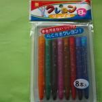 100円ショップセリアの「リップ式クレヨン」手が汚れずママもこどもも嬉しい!