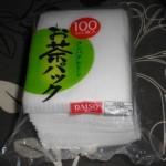 100均ダイソー日本製お茶パックで緑茶をいれてみました♪大容量!