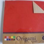 100均ミーツ「クラフト素材の折り紙」で正方形の箱作り