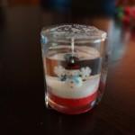 100円ショップダイソークリスマス「グラスインキャンドル」スノーマンすごくかわいい☆