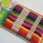 100円ショップダイソー「手芸用品 刺繍糸」お名前テープをカラフルにふちどり☆