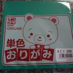 100円ショップミーツ「おりがみ」単色でも売っています!