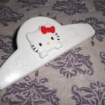 100円ショップダイソー「キティちゃんクリップ」でハムの乾燥防止