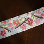 100円ショップダイソー「ジェルシール」桜吹雪を窓辺で楽しむ☆