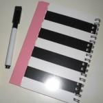100均ダイソー「ホワイトボードノート」⇒繰り返し消せる手帳!