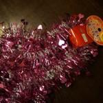 100均ダイソー「パーティーモール ピンク」でハートの鍵をイメージして・・