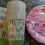 100均ミーツ「紙皿&紙コップ&ペーパーナプキン」バースデー柄も種類豊富!